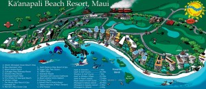 Ka'anapali Beach Resort Map.