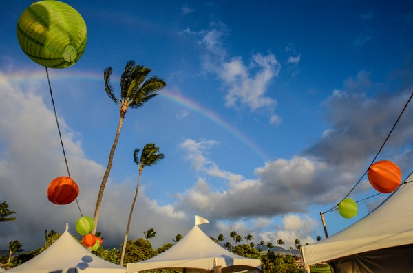Ka'anapali Fresh Food & Wine Festival - Rainbow in the Sky